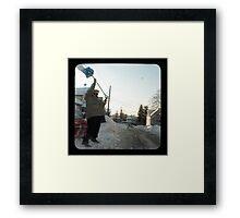 snow thrower Framed Print