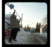 snow thrower Photographic Print