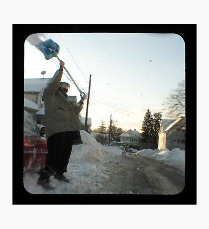 snow thrower Photographic Print