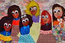 Las Chicas Gomes: Alma, Phyllis, Myrna, Anne, Cicely, Cecilia by withacanon
