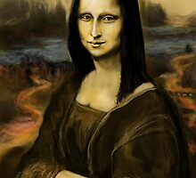 MY DIGITAL FREEHAND MONA ! by Ray Jackson