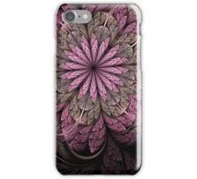 Pink and Black Flower iPhone Case/Skin