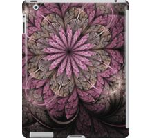 Pink and Black Flower iPad Case/Skin