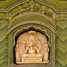 Detail - Gran Door in City Palace, Jaipur by Christopher Cullen