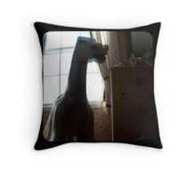 he rides again in childhood memories.. Throw Pillow