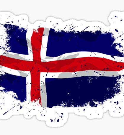 Iceland Flag - Vintage Look Sticker