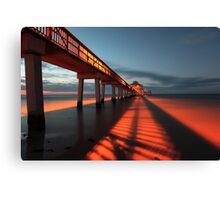 shadows of the morning Canvas Print