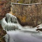 The Iced-over Waterfall by Aaron Campbell