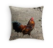 Rue of the rooster  Throw Pillow