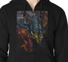 Elephant Nebula Zipped Hoodie