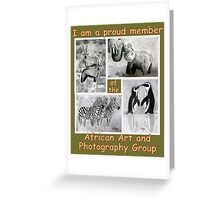 Banner entry for African Art & Photography Greeting Card