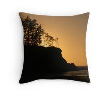 sunset beach, coos bay, sunset, peaceful Throw Pillow