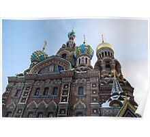 The Cathedral of Our Saviour on Spilled Blood, St Petersburg, Russia Poster