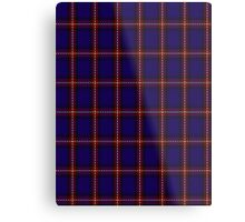 00434 Bacon Blue Tartan Metal Print