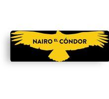 """Nairo Quintana """"El Condor"""" : TDF Yellow Logo Canvas Print"""