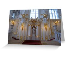 The Winter Palace, St Petersburg, Russia Greeting Card