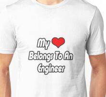 My Heart Belongs To An Engineer Unisex T-Shirt