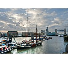 Thames River View: London, UK. Photographic Print