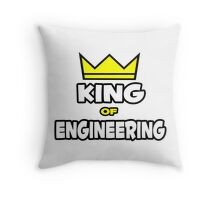 King of Engineering Throw Pillow