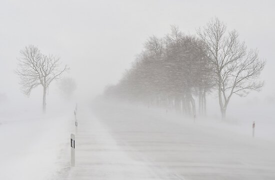 Blizzard on the Road by Kasia Nowak