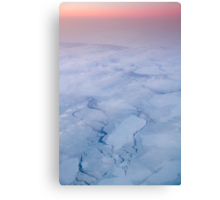 Arctic sunset over Hudson Bay Canvas Print