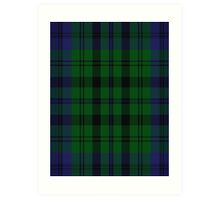 00435 Bailey Atlanta National Tartan  Art Print