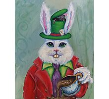 Hatter Rabbit Photographic Print