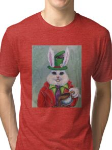 Hatter Rabbit Tri-blend T-Shirt