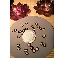 carved rose food deco. Photographic Print
