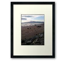 Blue Sky Beach Framed Print