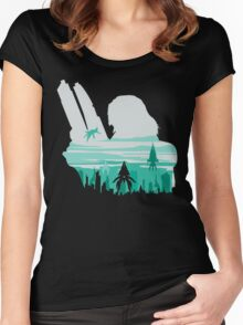 Reaper invasion of Earth (Femshep) Women's Fitted Scoop T-Shirt