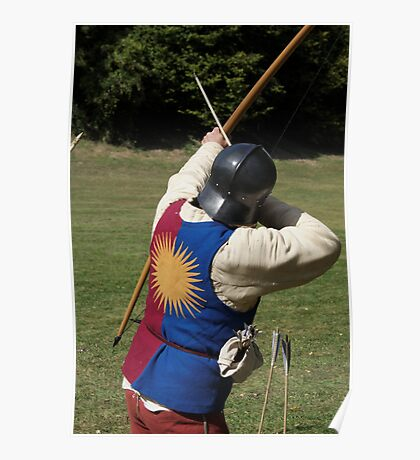 English Archer wearing the livery of Edward IV Poster