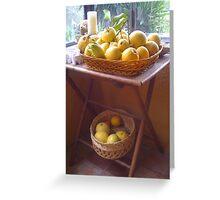 Pick a Peck of Lemons Greeting Card
