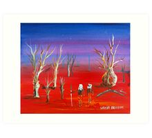 Sundown Outback Art Print