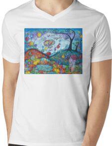 Kitty Dreams-acrylic Mens V-Neck T-Shirt