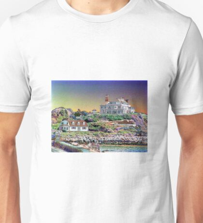 Digital Colouring - beach houses-  summers over  Unisex T-Shirt
