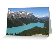 Peyto Lake, Icefields Parkway, Banff National Park Greeting Card