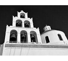 Santorini Church Bells ~ Black & White Photographic Print