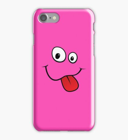 Silly teasing face sticking out tongue hot pink iPhone case iPhone Case/Skin