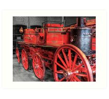 Antique Fire Engine Art Print
