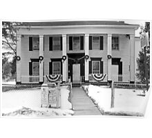 Southern Style House in NY-b&w Poster