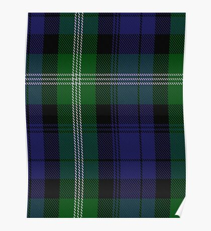 00440 Baillie of Polkemment Clan/Family Tartan  Poster