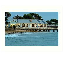 Sunrise,Barwon Heads Boat Shed Cafe Art Print
