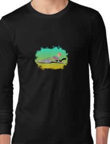 Abstract Female On The Beach Long Sleeve T-Shirt