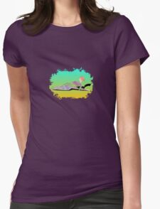 Abstract Female On The Beach Womens Fitted T-Shirt