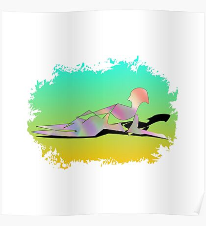 Abstract Female On The Beach Poster