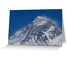 Top of the World Mount Everest Greeting Card