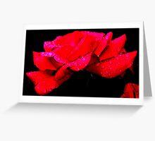 Raw Rose Greeting Card