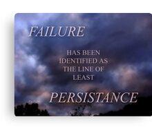 FAILURE (6) Canvas Print