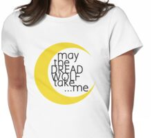 May the Dread Wolf Take... Me (yellow/black) Womens Fitted T-Shirt